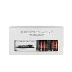 Three For You And Me - Body Wonder Towel - Mandarin + Thyme 100ml