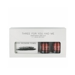Three For You And Me - Body Wonder Towel - Cinnamon + Ginger 100ml